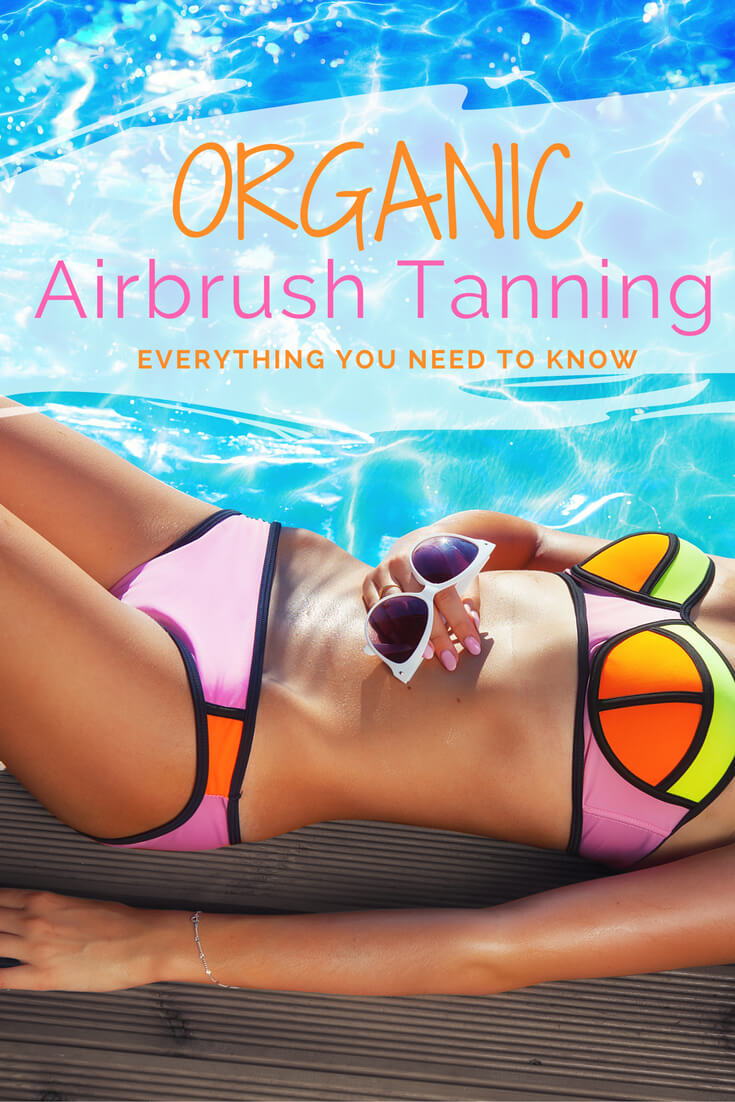 Organic airbrush spray tanning